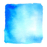 Light blue watercolor hand drawn banner Stock Photo