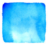 Light blue watercolor hand drawn banner Royalty Free Stock Image
