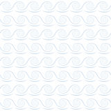 Light blue waves on white background Royalty Free Stock Photography