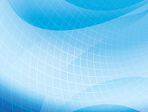Light blue wavy background with grid - vector Royalty Free Stock Image