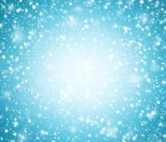 Light blue winter background with snowflakes. Abstract light blue winter background with snowflakes royalty free illustration