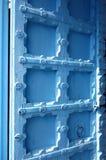 Light Blue Wood Door Stock Images