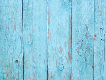 Light blue wooden fence background. Old vintage beautiful aged wooden fence background Royalty Free Stock Photos