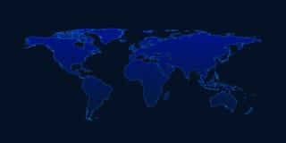 Light blue world map on dark blue background elements of this i light blue world map on dark blue background elements of this i stock photos gumiabroncs Gallery