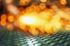 Light blur background. From welding with sparks on steel Stock Photography