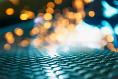Light blur background. From welding with sparks on steel Royalty Free Stock Photo