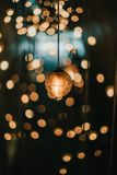 Light with bokeh background stock photos