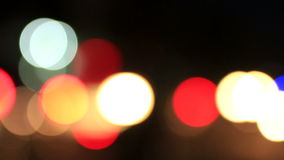 Light Bokeh in the city stock video