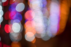 Bokeh light, blur light shooting. Light bokeh, lens blur bokeh wallpaper, background and texture of lens blur from night light, bokeh light Stock Image