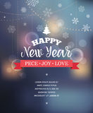 Light Bokeh, Merry Christmas Background With Typography Stock Photos