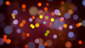 Light bokeh particles loop moving