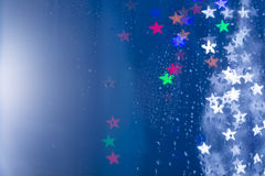 Light bokeh stars shapes Royalty Free Stock Photos