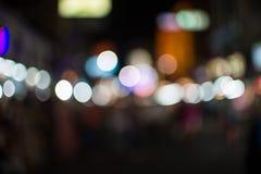 Light bokeh, street of Bangkok Royalty Free Stock Images