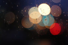 Light Bokeh On The Window Royalty Free Stock Photo