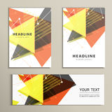 Light book cover. Abstract vector composition of triangles for printing books, brochures, leaflets Royalty Free Stock Photo
