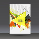 Light book cover. Abstract vector composition of triangles for printing books, brochures, leaflets Royalty Free Stock Photos