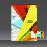 Light book cover. Abstract vector composition of triangles for printing books, brochures, leaflets Stock Photos