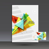 Light book cover. Abstract vector composition of triangles for printing books, brochures, leaflets Stock Images