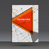 Light book cover. Abstract vector composition of triangles for printing books, brochures, leaflets Royalty Free Stock Image
