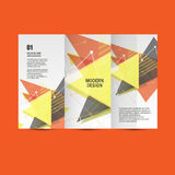Light book cover. Abstract vector composition of triangles for printing books, brochures, leaflets Stock Image