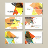 Light book cover. Abstract vector composition of triangles for printing books, brochures, leaflets Royalty Free Stock Images