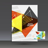 Light book cover. Abstract vector composition of triangles for printing books, brochures, leaflets Stock Photography
