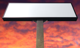 Light Box Vertical On Red Sky Stock Image