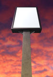 Light Box Vertical On Red Sky Stock Photography