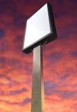Light Box Vertical On Red Sky Stock Photo
