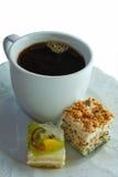 Light breackfast with coffee Stock Photo