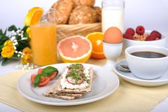Light breakfast Stock Images