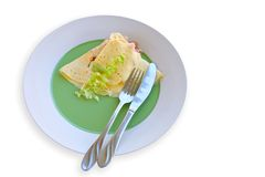 Light Breakfast. Light and healthy breakfast omlette Stock Photography