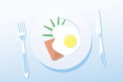 Light breakfast. This is file of EPS10 format Royalty Free Stock Photography