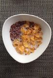 Light breakfast. A bowl of cereal for good and light breakfast to start a Royalty Free Stock Photo