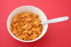 Light breakfast - cornflakes stock image