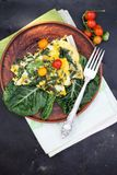 Breakfast of eggs with chard Royalty Free Stock Images