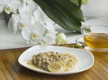 light breakfast with oatmeal Stock Images