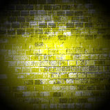 Light on the brick wall in the center of Stock Images