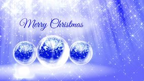 Light bright composition for merry Christmas with 3d Christmas tree from glitter particles and sparkles in snowglobe or. Snowball. With rays such as aurora stock video