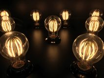Tungsten. Light bright glow Royalty Free Stock Images