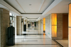A light and bright luxurious hotel corridor Royalty Free Stock Image