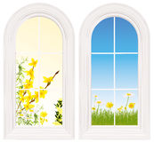Light and bright windows Royalty Free Stock Photos