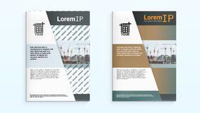 Light Brochure Flyer Or Annual Construction Report Design Template. Leaflet Or Printed Presentation Cover. EPS10 Vector vector illustration