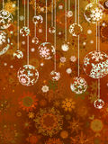 Light Bronze abstract Christmas. EPS 8 Royalty Free Stock Photo