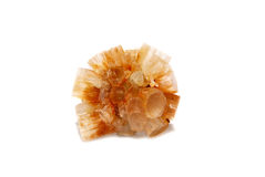 Light Brown Aragonite Starburst. Light brown aragonite star burst, crystal cluster from Serfou, Morocco Stock Photo
