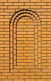 Light brown arched concave brick wall background Royalty Free Stock Photography