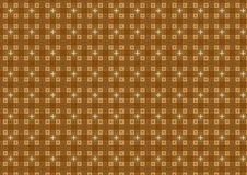 Light Brown Background Pattern. Brown and tan colored square pattern with white crosses. Useful as a background or texture Stock Photos