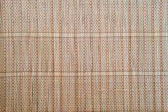 Light brown Bamboo mat tablecloth background texture Royalty Free Stock Photos