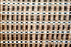 Light brown Bamboo mat tablecloth background texture Royalty Free Stock Image