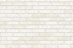 Light brown brick wall abstract background. Texture of bricks. Vector illustration. Template design for web banners.  stock illustration